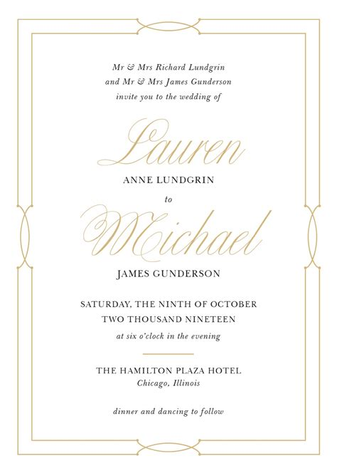 wedding invitation wording sles