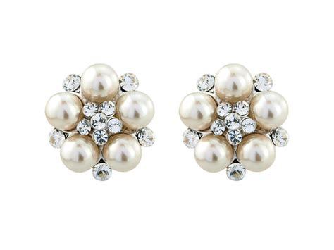 pearl stud earrings vintage style wedding earrings