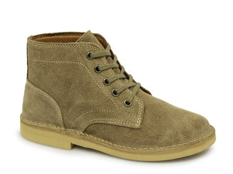 desert boots roamers mens suede lace up ankle desert boots taupe