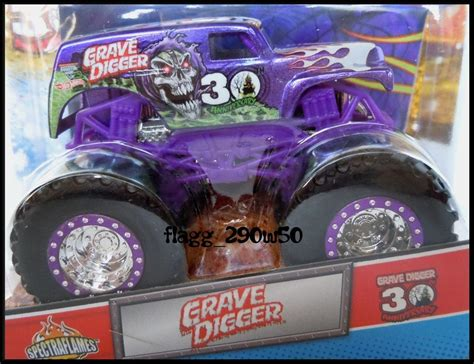 purple grave digger truck wheels jam truck 30th anniversary purple