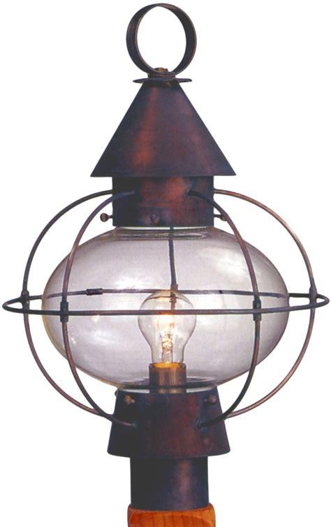 copper l post lantern cape cod onion copper lantern post light head for sale