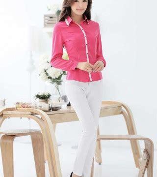 Model Terbaru Murah Kode 5027 Pink Best Seller kemeja wanita pink lengan panjang terbaru model terbaru jual murah import kerja