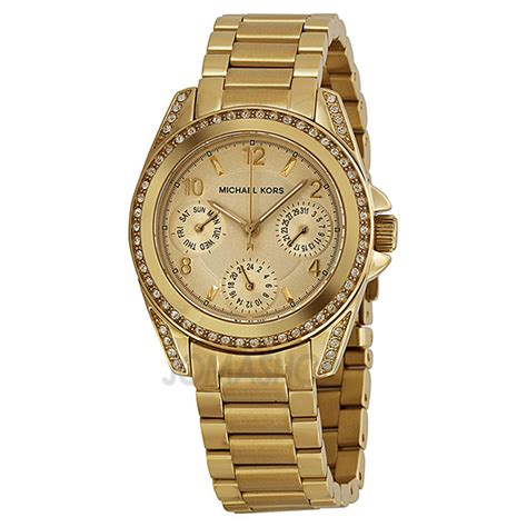 Mk5639 Michael Kors Blair Gold Tone Stainless Steel michael kors blair chagne gold tone stainless