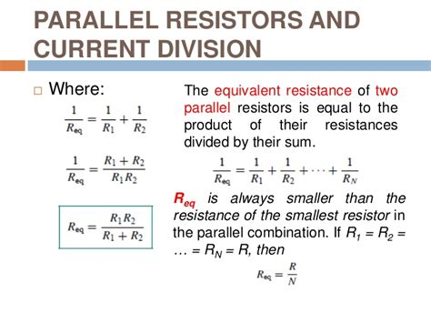 series resistors and voltage division parallel resistors and current division 28 images voltage and current division ppt current