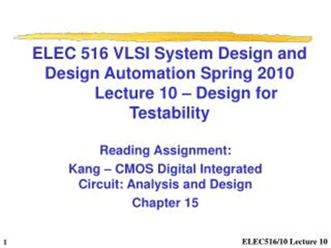 cmos digital integrated circuits analysis and design kang solutions manual ppt lecture 24 design of two way floor slab system powerpoint presentation id 225070
