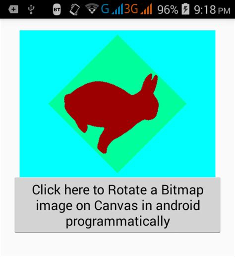 how to rotate on android rotate bitmap image on canvas in android programmatically android exles