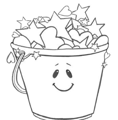 grade onederful coloring page bucket fillers