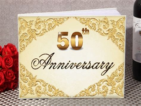Wedding Anniversary Book by 50th Anniversary Guest Book