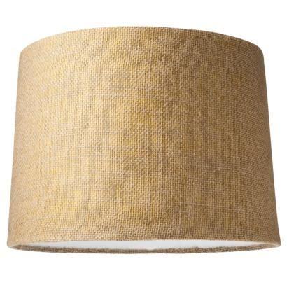 leaf weave block printed green lampshade