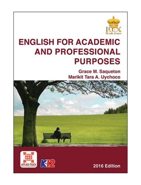 english  academic  professional purposes senior high school rex book store