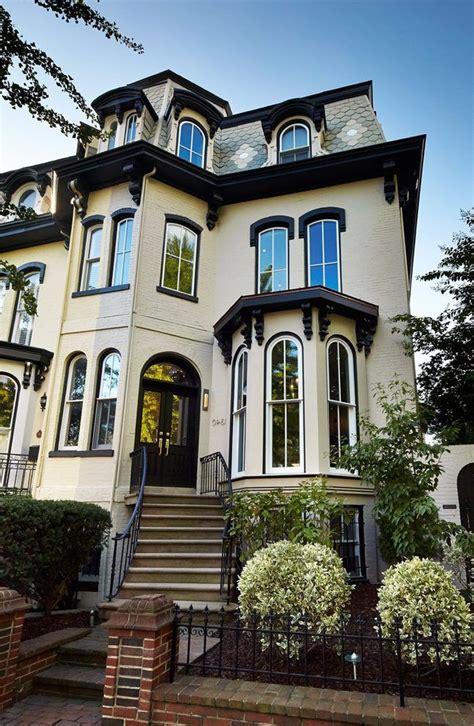 beige brick house exterior victorian  outdoor