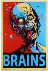 Purchase Kitchen Island zombie quot brains quot wall poster thinkgeek