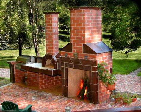 Rumford Outdoor Fireplace by Ovens