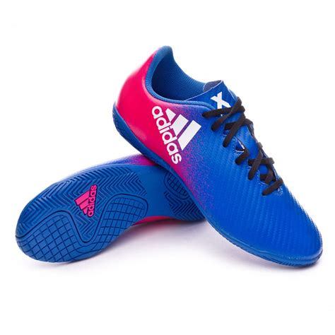 adidas x futsal futsal boot adidas jr x 16 4 in blue white shock pink