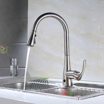 costco kitchen faucets flow motion activated pull kitchen faucet