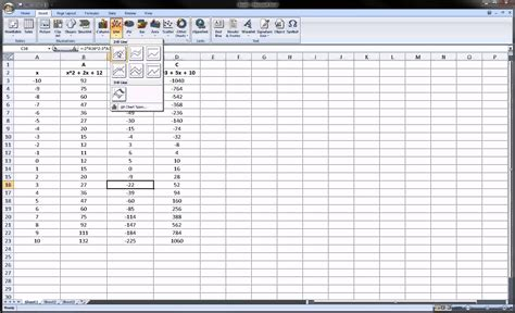 Mat Excel by Excel Graphing Math Functions