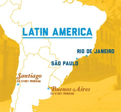 south america map de janeiro america office for study abroad the george