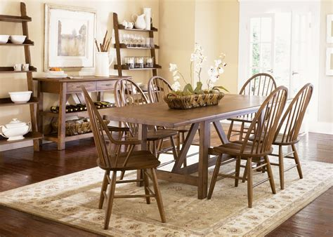Farmhouse Dining Table Set Farmhouse Trestle Dining Set By Liberty T4002 Dining Room Furniture