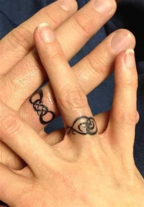 21 wedding ring tattoo ideas ideas for your never ending