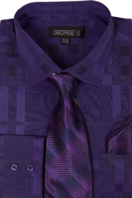 Pattern Dress Shirt And Tie | mens cotton geometric pattern dress shirt with tie and ha