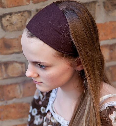 Wide Hairband soft knit headband wide stretch hairband