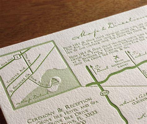 Wedding Invitation Map Card