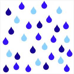 rainy day raindrop vinyl wall decals by