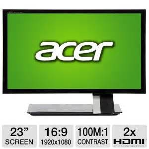 Acer Monitor Led S235hl acer s235hl monitor screen size 23 resolution 1920 x 1080 contrast ratio 100000000 1