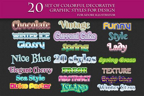 Style Graphic 9 200 graphic styles for adobe illustrator on behance