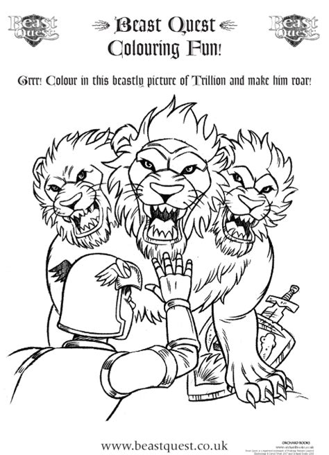 free coloring pages of beast quest