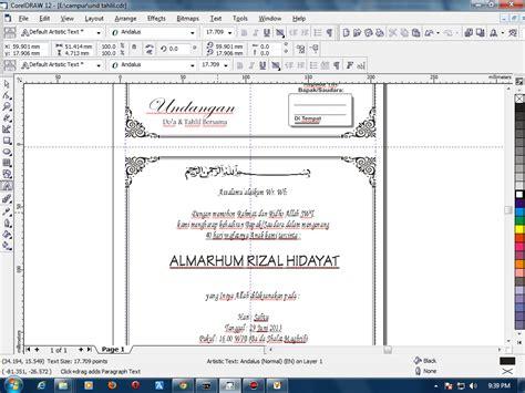 membuat undangan walimatul ursy catatan kecilku contoh undangan tahlil