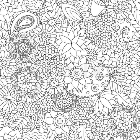 doodle patterns wikipedia doodle flower pattern black and white vector seamless