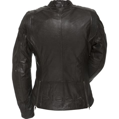 casual motorbike black athena ladies leather motorcycle jacket motorbike