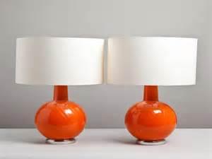 furniture table lamp modern table lamps allmodern orange