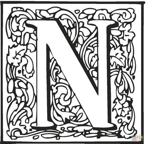 lettere statale disegno di lettera n da colorare disegni da colorare e