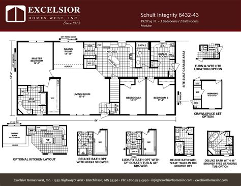 Kitchen Floor Plans With Island And Walk In Pantry by Schult Integrity 43 Modular Amp Manufactured Excelsior