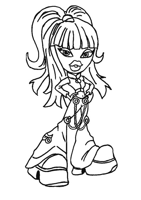 Free Coloring Pages free printable bratz coloring pages for
