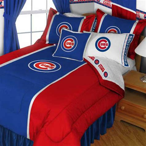 chicago cubs comforter set 4pc mlb chicago cubs comforter sheets baseball bed in a