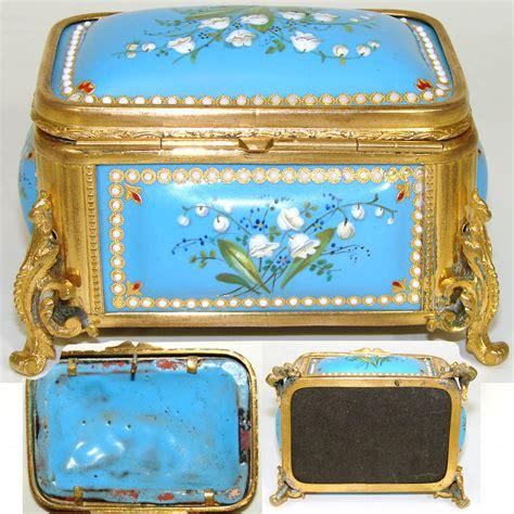 kiln for jewelry antique kiln fired enamel 4 quot jewelry casket bell