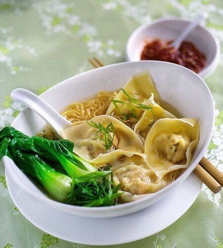wonton noodle soup steamy kitchen recipes