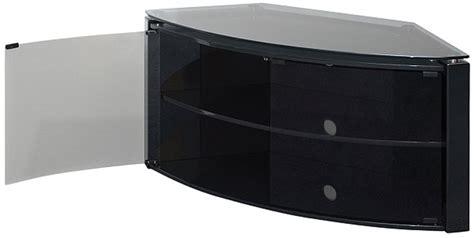 black tv stand glass doors techlink bench piano black corner tv stand with glass doors