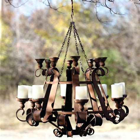 Outdoor Hanging Chandelier Grand Chandelier Eclectic Outdoor Hanging Lights Atlanta By Iron Accents