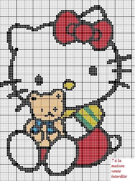 hello kitty cross stitch hello kitty cross stitch irem pinterest