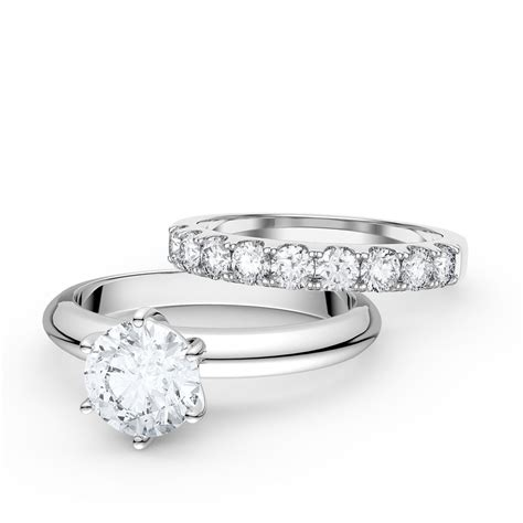 unity 1 5ct white sapphire 18ct white gold engagement and