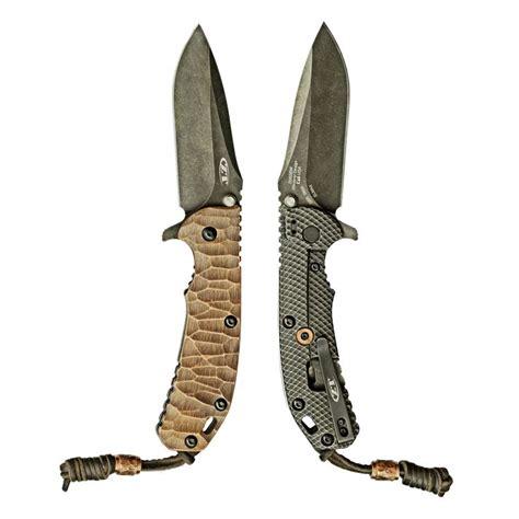 pattern makers knife edc knife zero tolerance 560 bw with custom stone pattern
