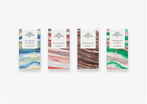 Colors That Go With Pink by Watercolor Chocolate Packaging Design For Dorset Chocolate
