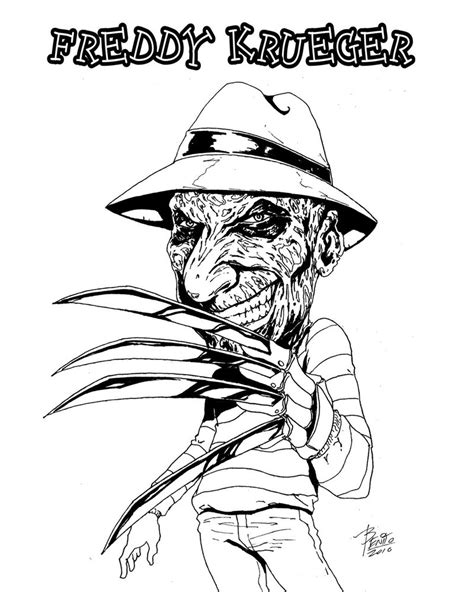 freddy krueger coloring pages coloring pages