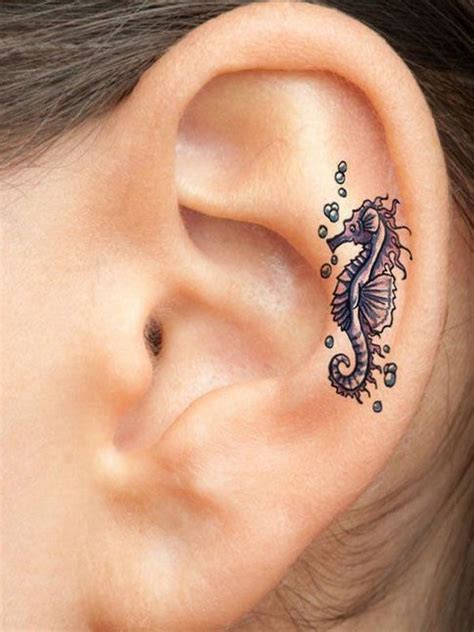 does a tattoo behind ear hurt 55 excellent mini ear tattoo designs meanings powerful