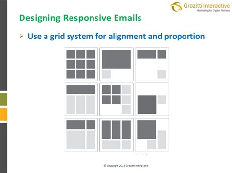 email layout grid responsive emails for marketers