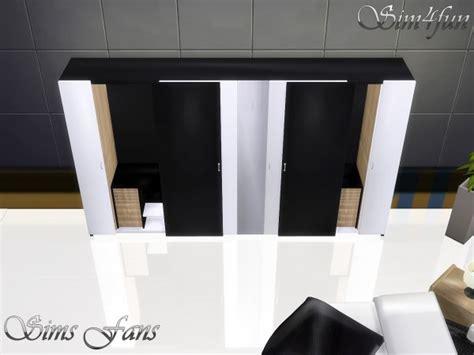 sims fans  bed  modern dresser  simfun sims  downloads